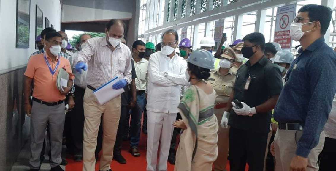 Deputy Chief Minister Ajit Pawar inspects the work of Pune Metro