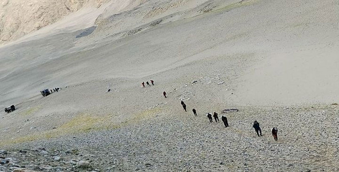 Firingby Chinese troops in Ladakh