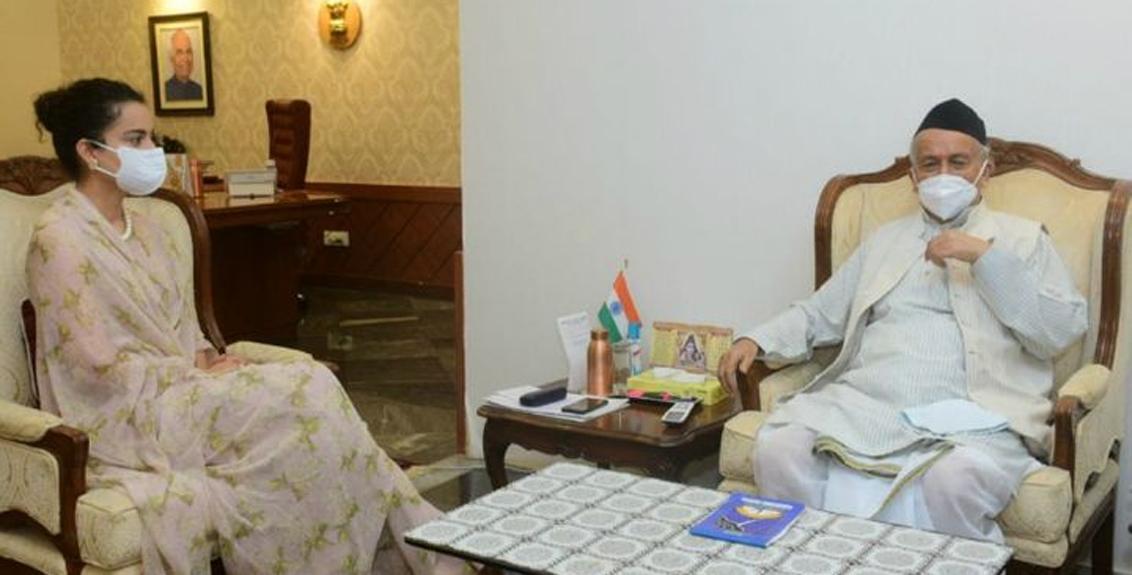 Kangana Ranaut meets Governor Bhagat Singh Koshyari