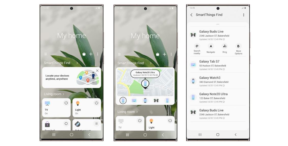 SmartThings Find App: Find a lost smartphone
