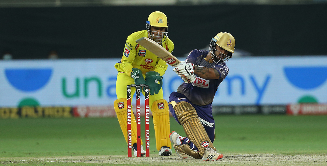ipl 2020 kolkata reach 172 in chennai match
