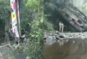 Bus crashes into ravine in Nandurbar