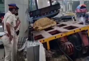 One killed, two injured in crane collapse