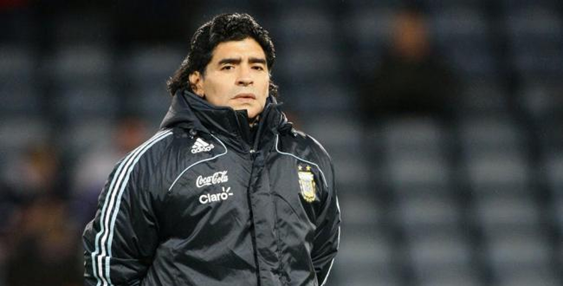 Famous Argentine footballer Diego Maradona