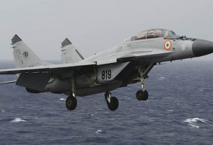 Indian Navy instructor MiG-29K crashes in Arabian Sea