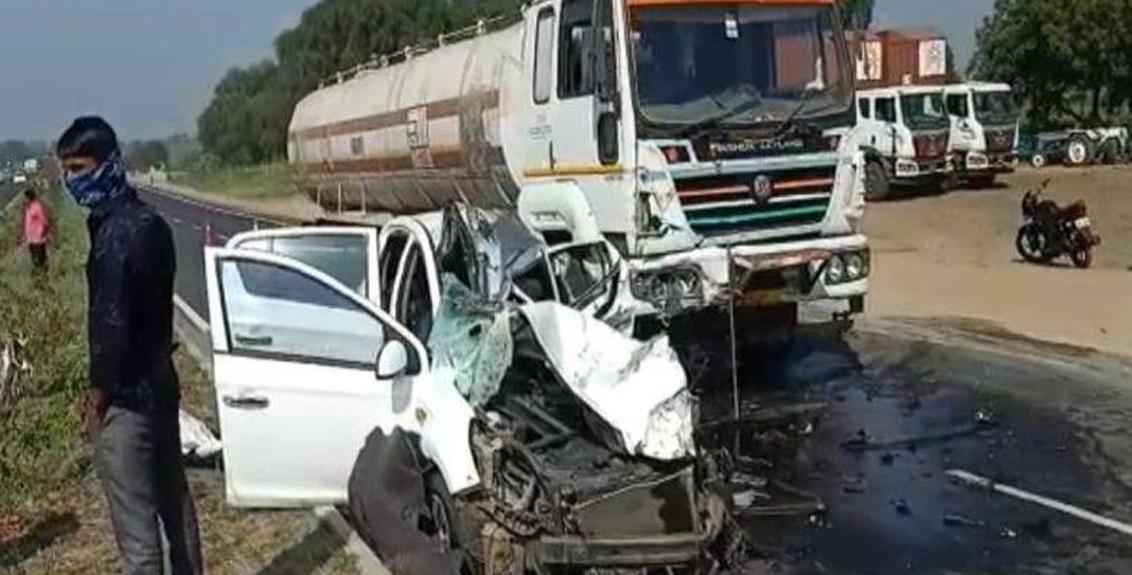 Terrible accident on Beed-Aurangabad highway