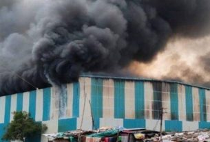 Fire brokeout in pune ambegaon