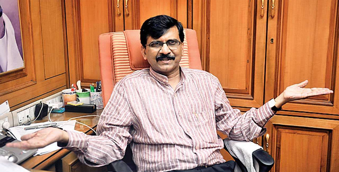 Comparing ED and CBI with dogs Sanjay Raut tweeted a caricature