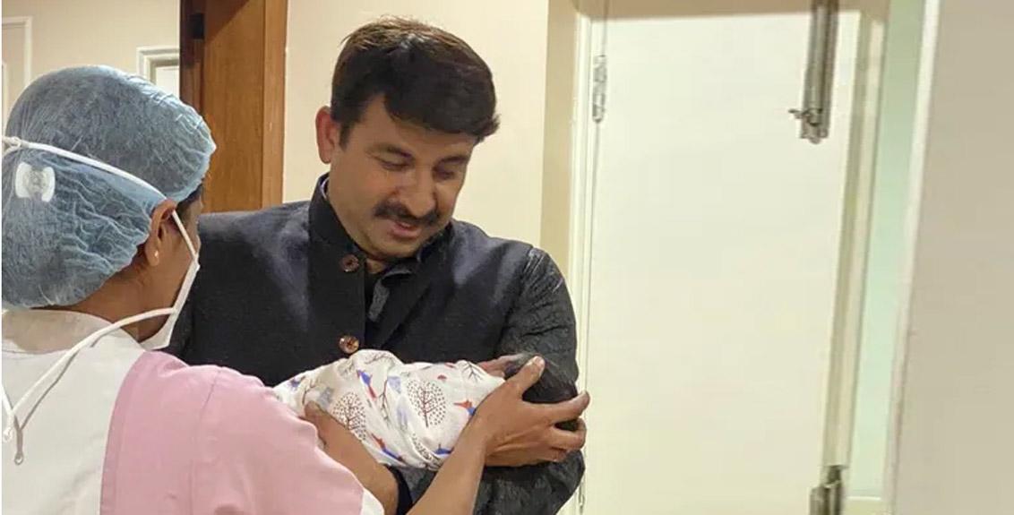 bjp leader manoj tiwari becomes father of a baby girl