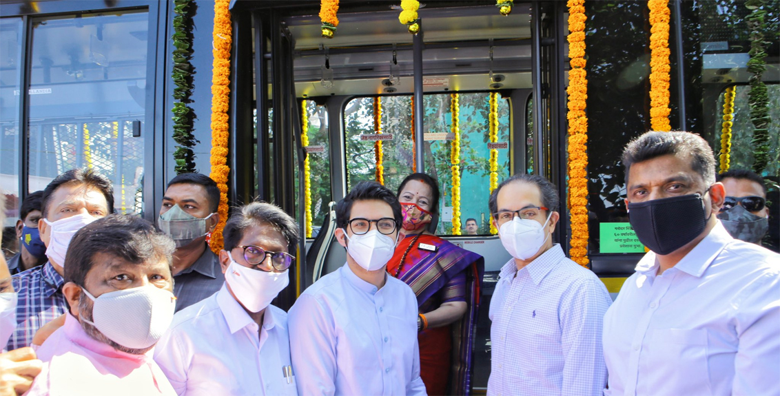 Environmentally friendly 26 AC electric buses in the service of Mumbaikars