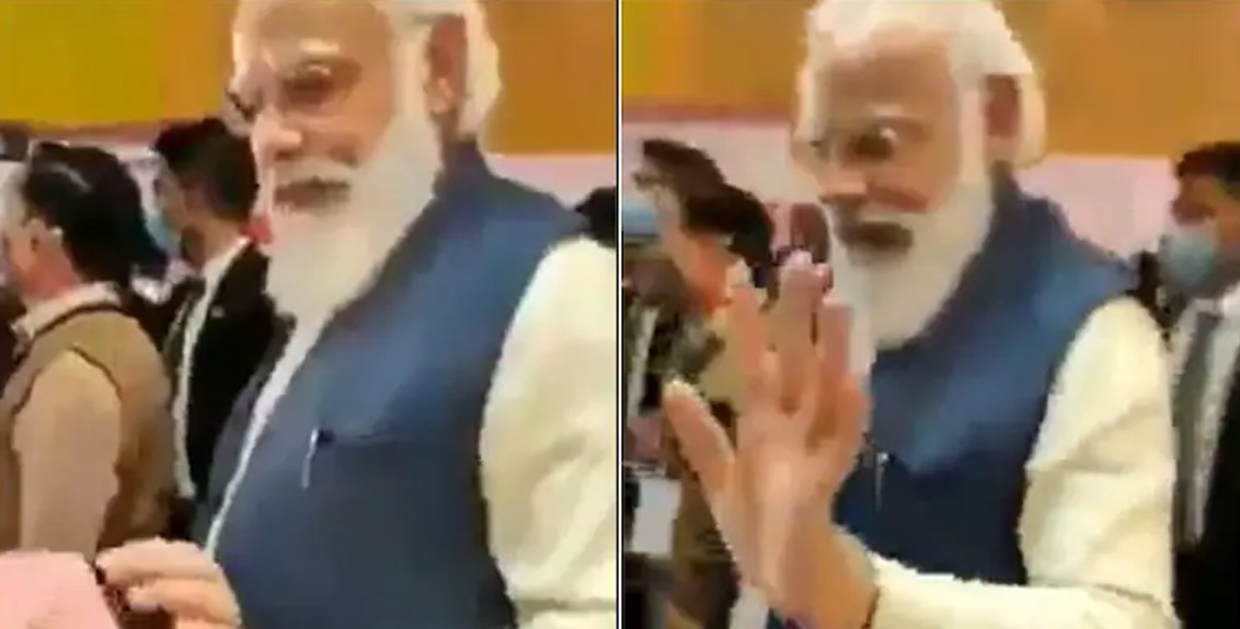 'Aap' trolled Prime Minister Narendra Modi by sharing the video