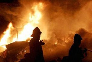A firefighter died in a fire at a factory in Taloja Industrial Estate