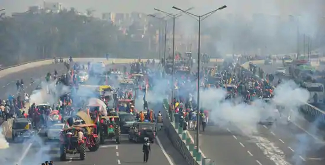 High alert in Punjab after violence during farmers agitation