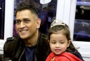 ziva will do add with papa ms dhoni