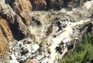 avalanche in Tapovan area of Uttarakhand