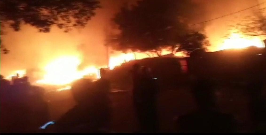 Massive fire in Okhla Phase II area of Delhi