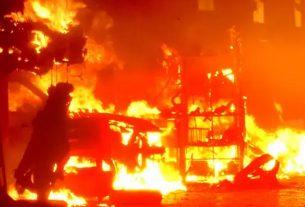 fire broke in Pandharpur Market
