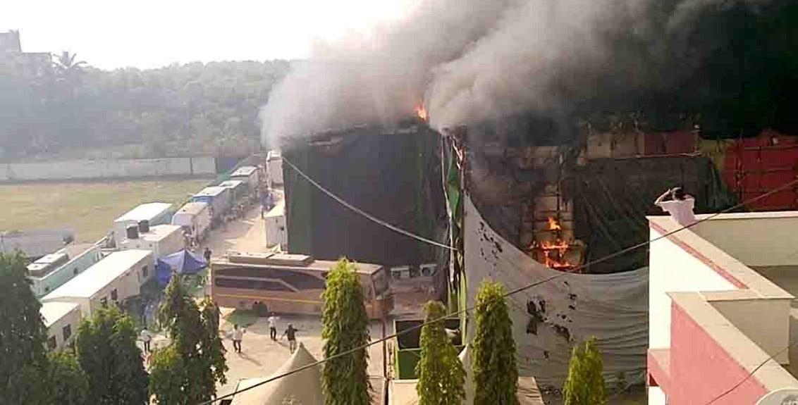 fire broke out at a studio in Goregaon, Mumbai