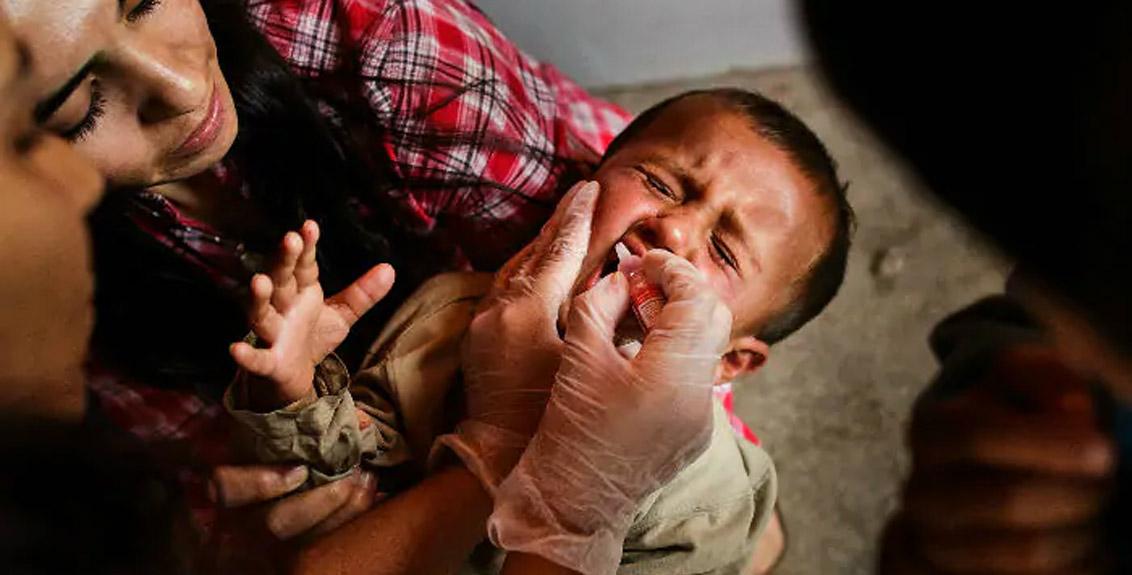 12 children were given sanitizer during polio vaccination