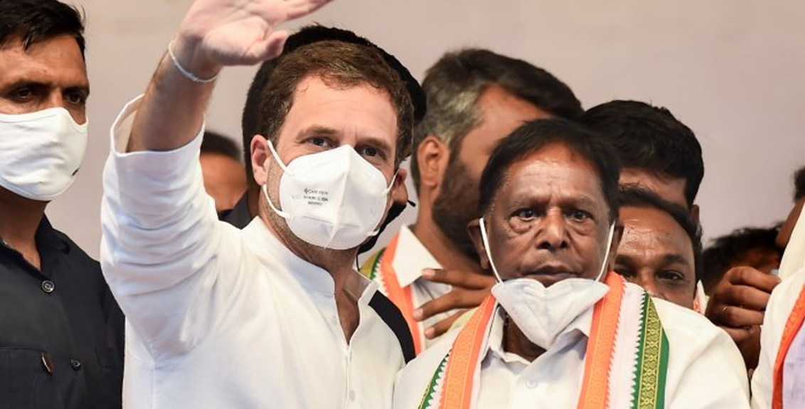 A big blow to the Congress, the Congress government collapsed in Puducherry