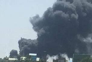 A fire broke out at a company in Sanaswadi MIDC area