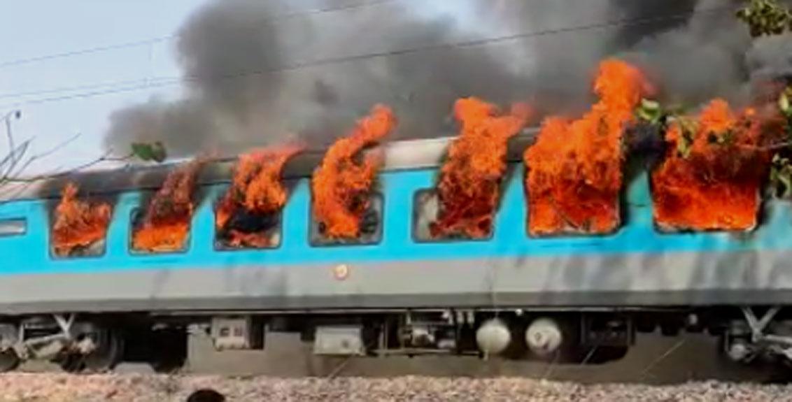 Delhi-Dehradun Shatabdi Express caught fire