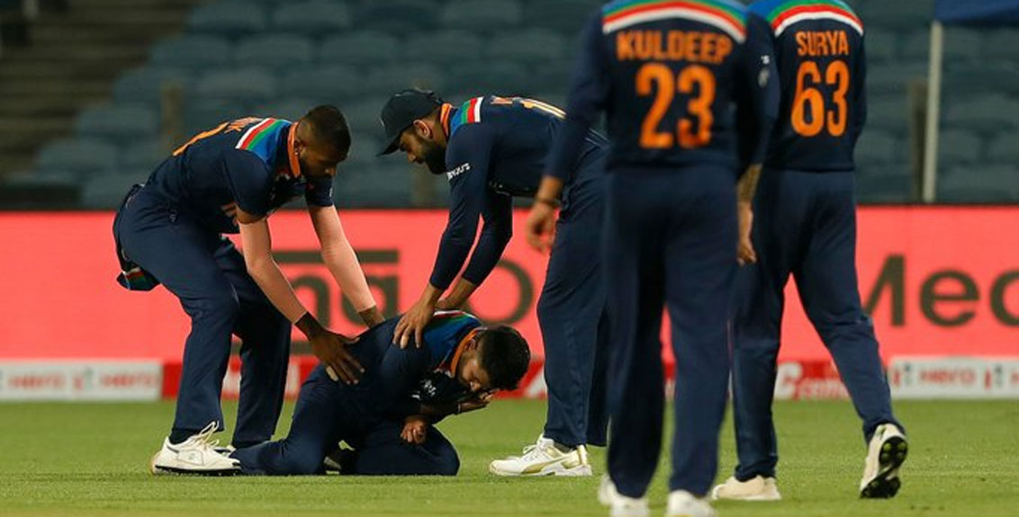 Shreyas Iyer subluxated his left shoulder