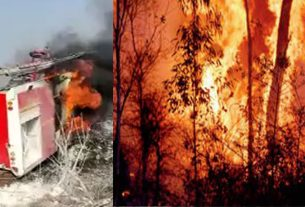 A huge fire has been raging in the forest of Amravati forest department for the last three days