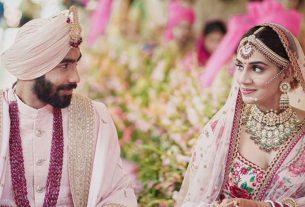 Jaspreet Bumrah and Sanjana Ganesan got married
