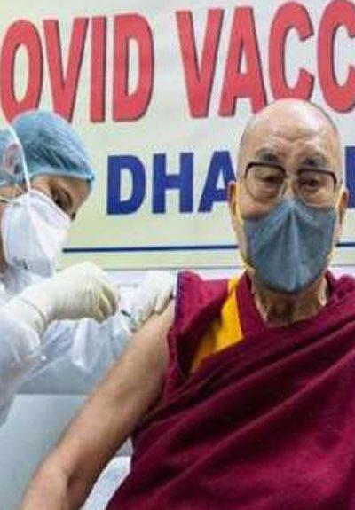 Dalai Lama get The first dose of corona vaccine