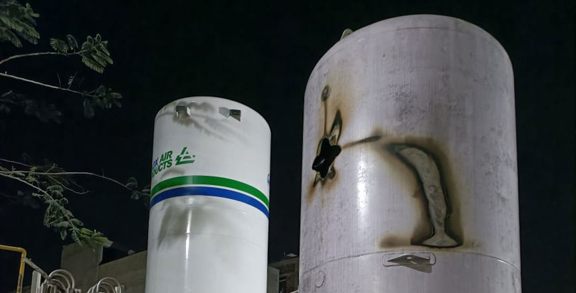 Oxygen tank explodes at a hospital in Solapur