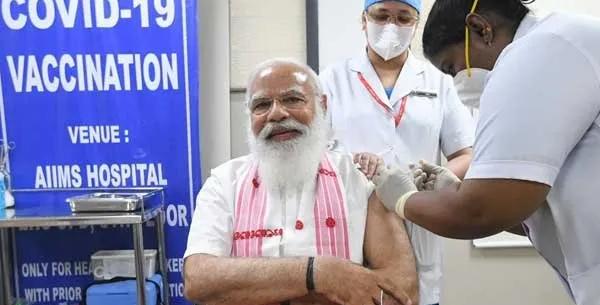 Corona vaccine taken by Prime Minister Narendra Modi