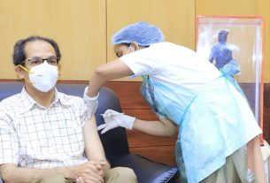 Chief Minister Uddhav Thackeray today took the second dose of Corona vaccine