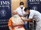 Prime Minister Narendra Modi took the second dose of corona vaccine