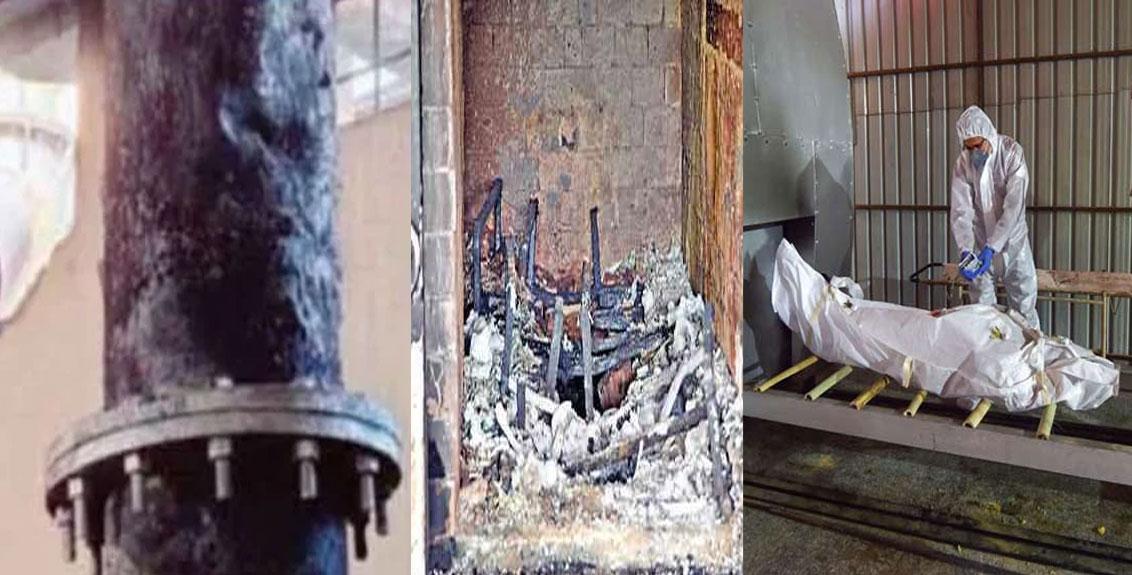 Frames of crematorium furnaces in Surat melt due to rush of bodies