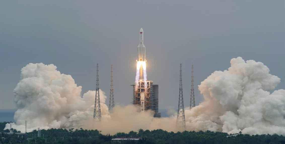 China says rocket debris landed in Indian Ocean