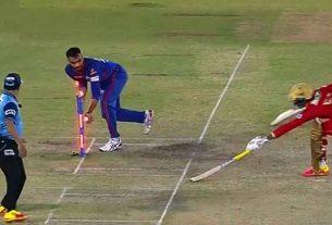Horrible mixup between Mayank Agarwal and Deepak Hooda both reached the non striker's crease