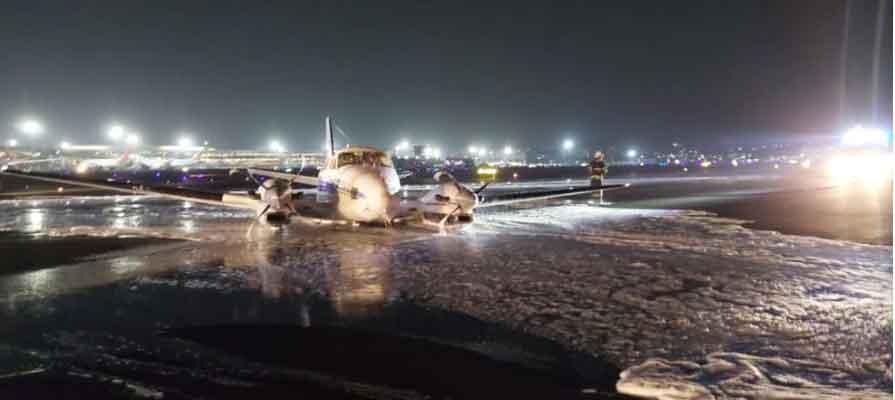 flight emergency landing mumbai nagpur paitient