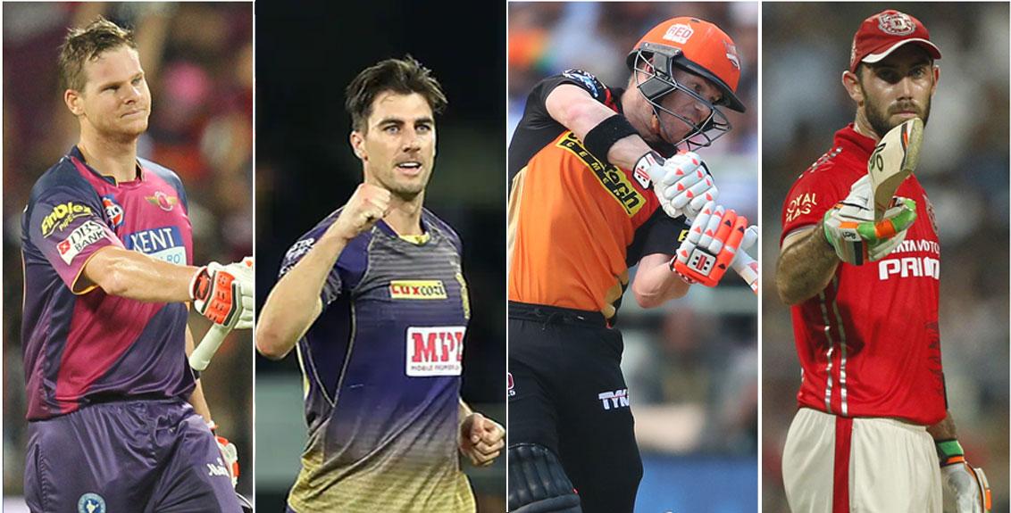 Australian players playing in IPL