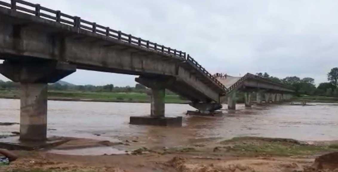bridge river kanchi collapsed heavy rain cyclone yaas