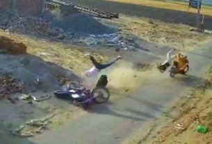 accident motorcycle collision faridkot two died punjab