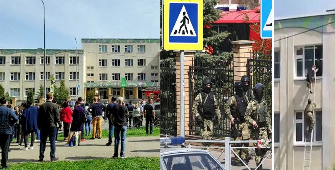 russia school firing 12 injured 13 killed including eight students