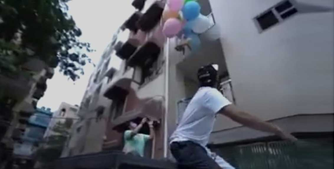 youtuber arrested for making dog fly using balloons