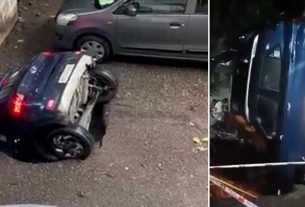 Drowned Car Of Ghatkopar Has Been pulled out