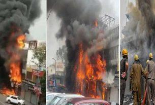 Fire breaks out at Delhi's Lajpat Nagar market, 16 fire tenders rushed to spot