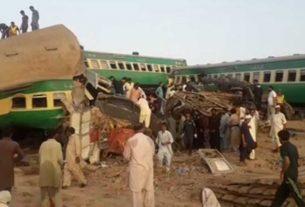 Major train accident in Pakistan