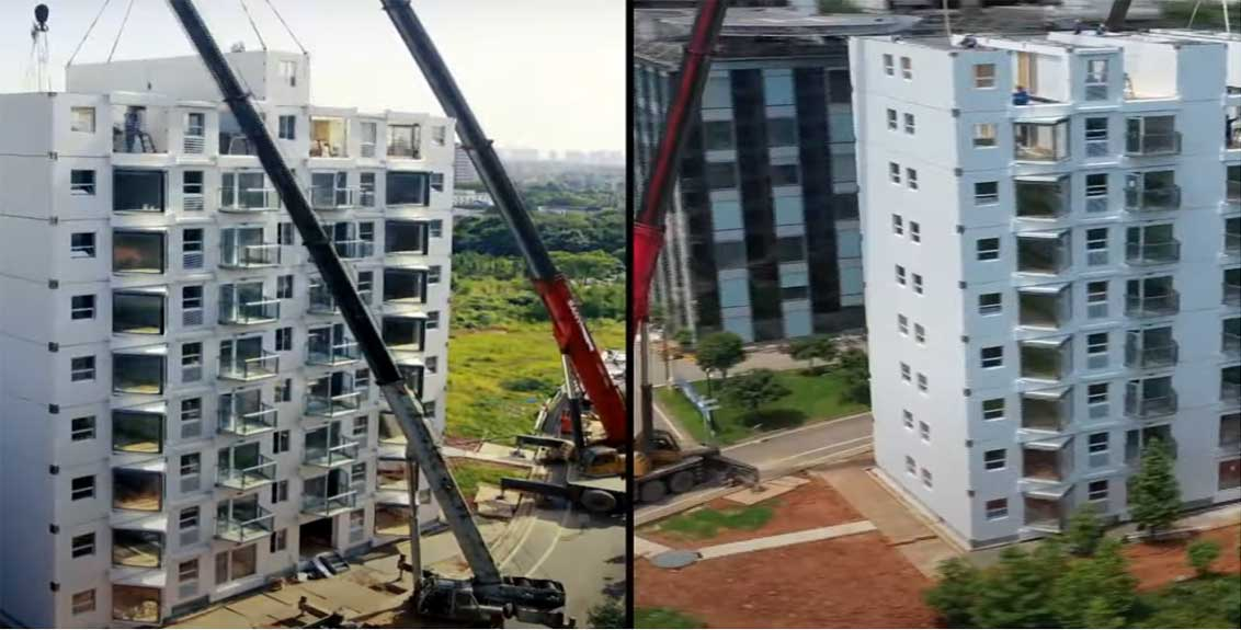 chinese developer builds 10 storey building in just over 28 hrs