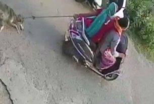 police registered case against two women for tying dog to scooter while riding