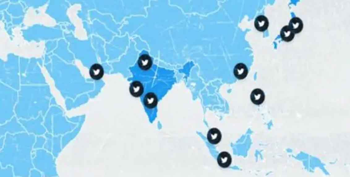 twitter website shows jammu kashmir and ladakh as separate country
