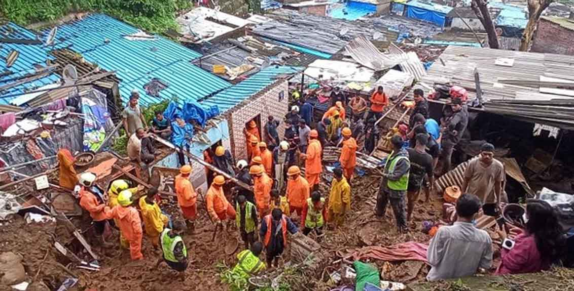15 killed in wall collapse due to landslide in mumbais chembur